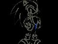 Sonic Chronicles - Sonic (Line Art)