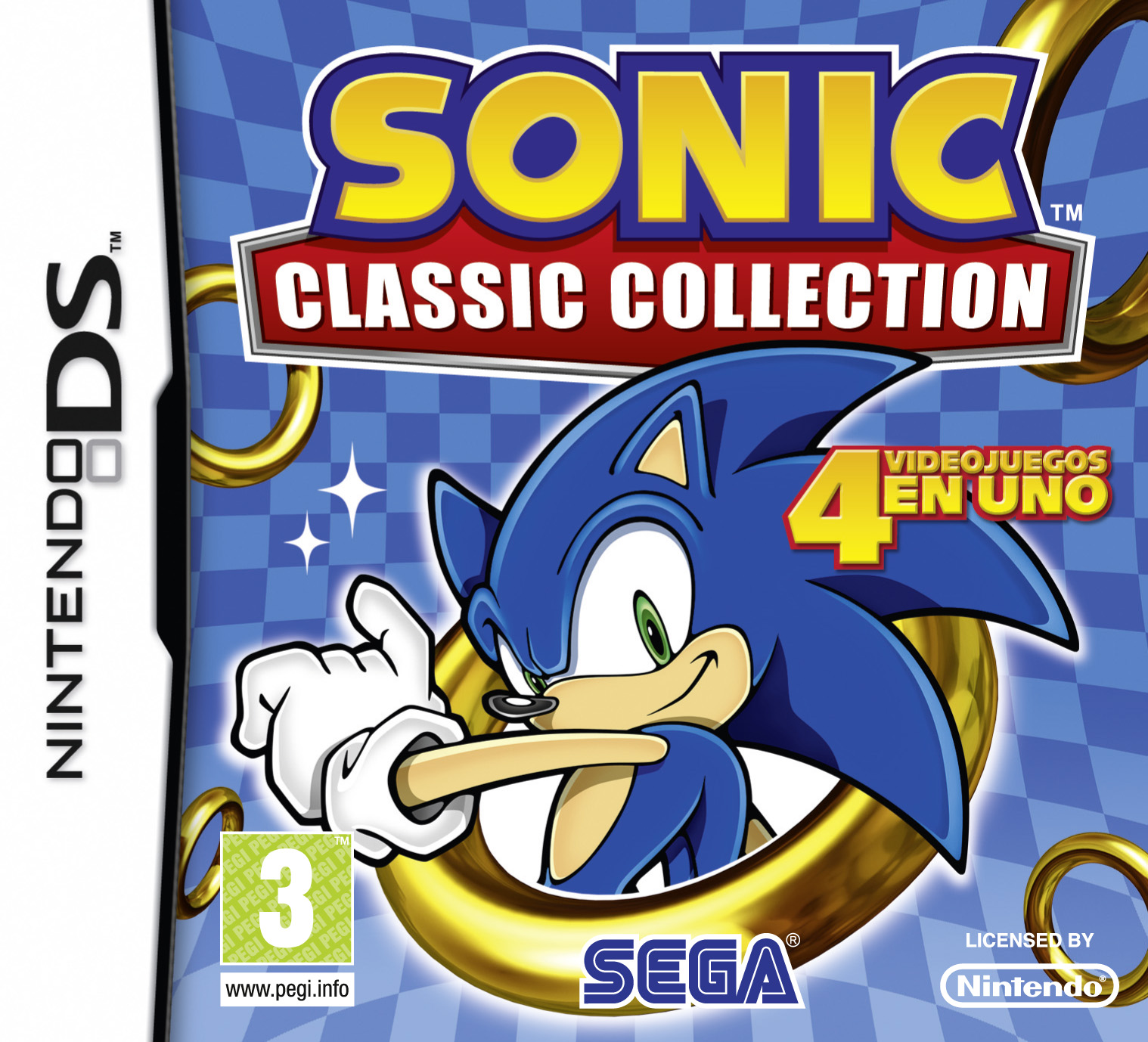Sonic Classic Collection - Spanish Packshot