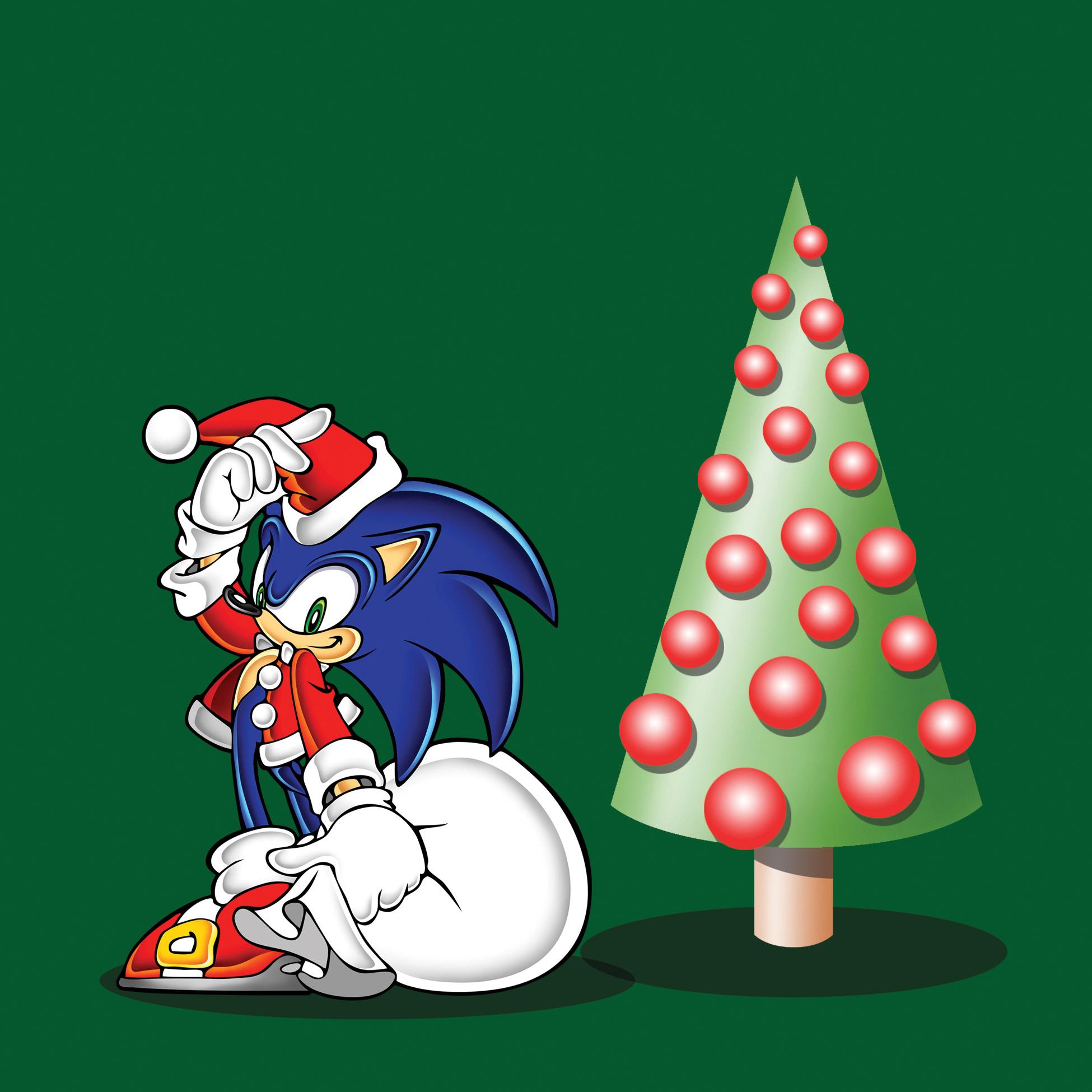 sonic the hedgehog adventure era sega christmas card design - Sonic Hours Christmas Day