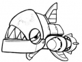 Sonic The Hedgehog 4 - Chopper (Sketch)