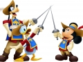 Characters - Musketeer Group: Goofy, Donald & Mickey
