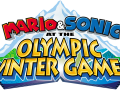 Mario & Sonic At The Olympic Winter Games - English Logo