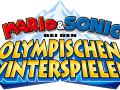Mario & Sonic At The Olympic Winter Games - German Logo