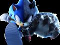 Character Art - Sonic/Werehog Split Cover Art