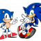 Classic and Modern Sonic