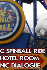 Sonic Spinball Ride & Hotel Room At Alton Towers – Sonic's Dialogue