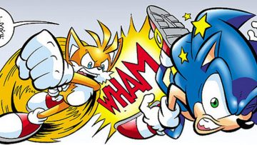 Header: Stupid Sonic SEGA Stuff / Tails Punches Sonic / FAIL